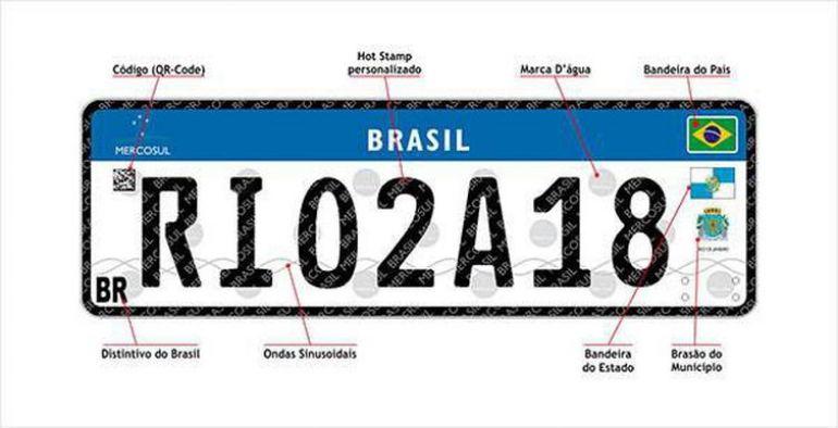 Reprodução/Agência Brasil - Primeiro modelo de placa Mercosul deverá ser modificado e perderá brasões do Estado e municípios