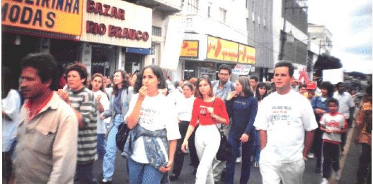 "AI do Sintrapp/Cedida - Greve de 1995, conhecida como ""152%"", que reivindicava reajuste salarial"