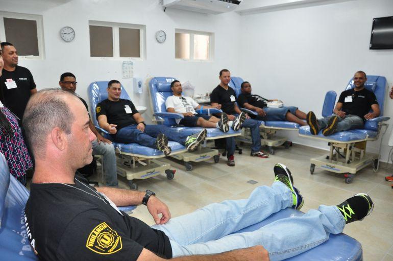 José Reis - Vigilantes da Unoeste se uniram para doar sangue no Núcleo de Hemoterapia