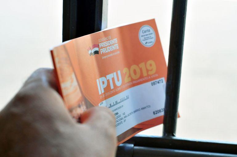Marcio Oliveira - Carnês do IPTU deste ano começam a chegar aos imóveis de Prudente nesta semana