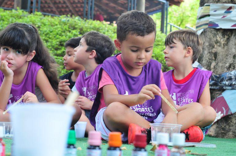 """Marcio Oliveira:Sesc Thermas de Presidente Prudente promoveu a atividade na tarde de ontem para 50 crianças """"animadas com a atividade"""""""