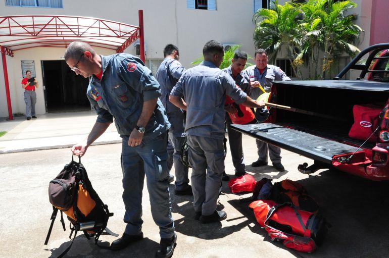 José Reis - Militares partiram ontem da sede do 14º Grupamento do Corpo de Bombeiros