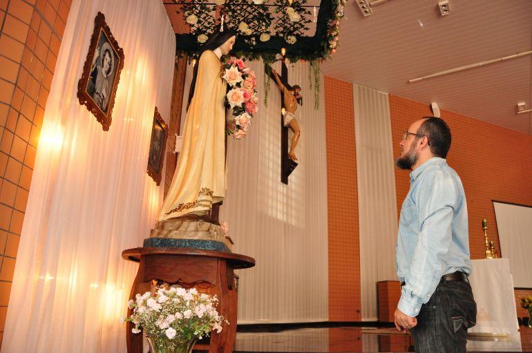 José Reis - Líder do Santuário Santa Teresinha, padre Sandro diz que experiência em CDP foi humanizante