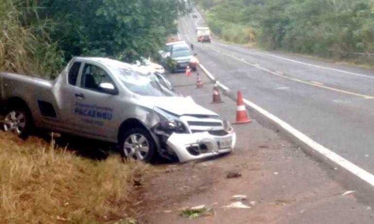 Folha Regional/Cedida - Corpo que estava no veículo acidentado foi removido e preparado para o velório