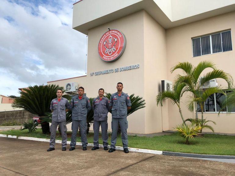 Corpo de Bombeiros - Militares saíram da sede do 14º Grupamento de Bombeiros, em Prudente